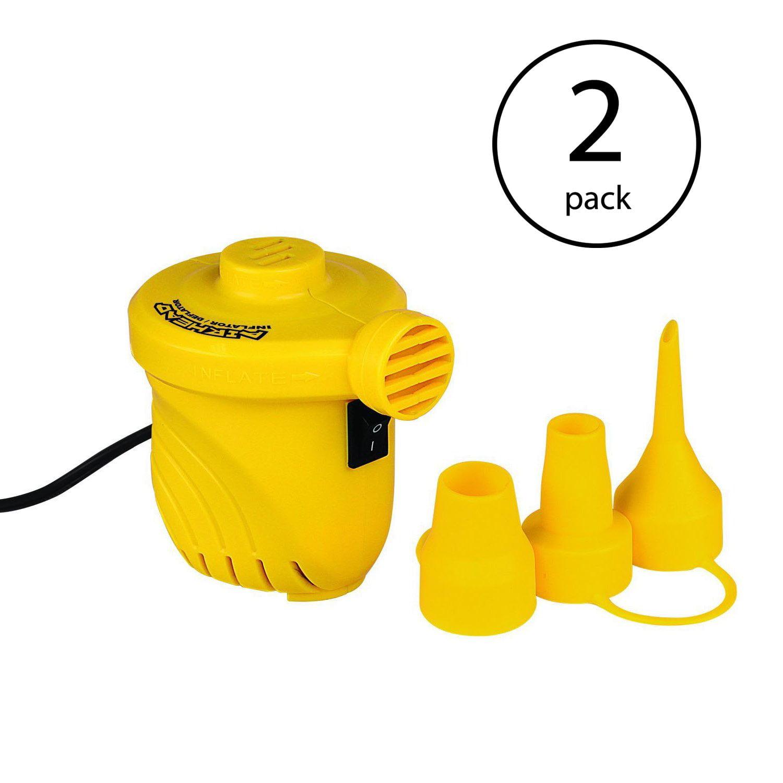 Airhead 12V Hi Output Volume Portable Air Pump Inflatables Towables (2 Pack)