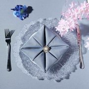 """Efavormart 6 Pack 13"""" Round Acrylic Reef Charger Plates Ruffled Rim Dinner Charger Plates"""