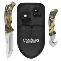 Camillus 2 Pcs Hunting Set - Mossy Oak with Sheath