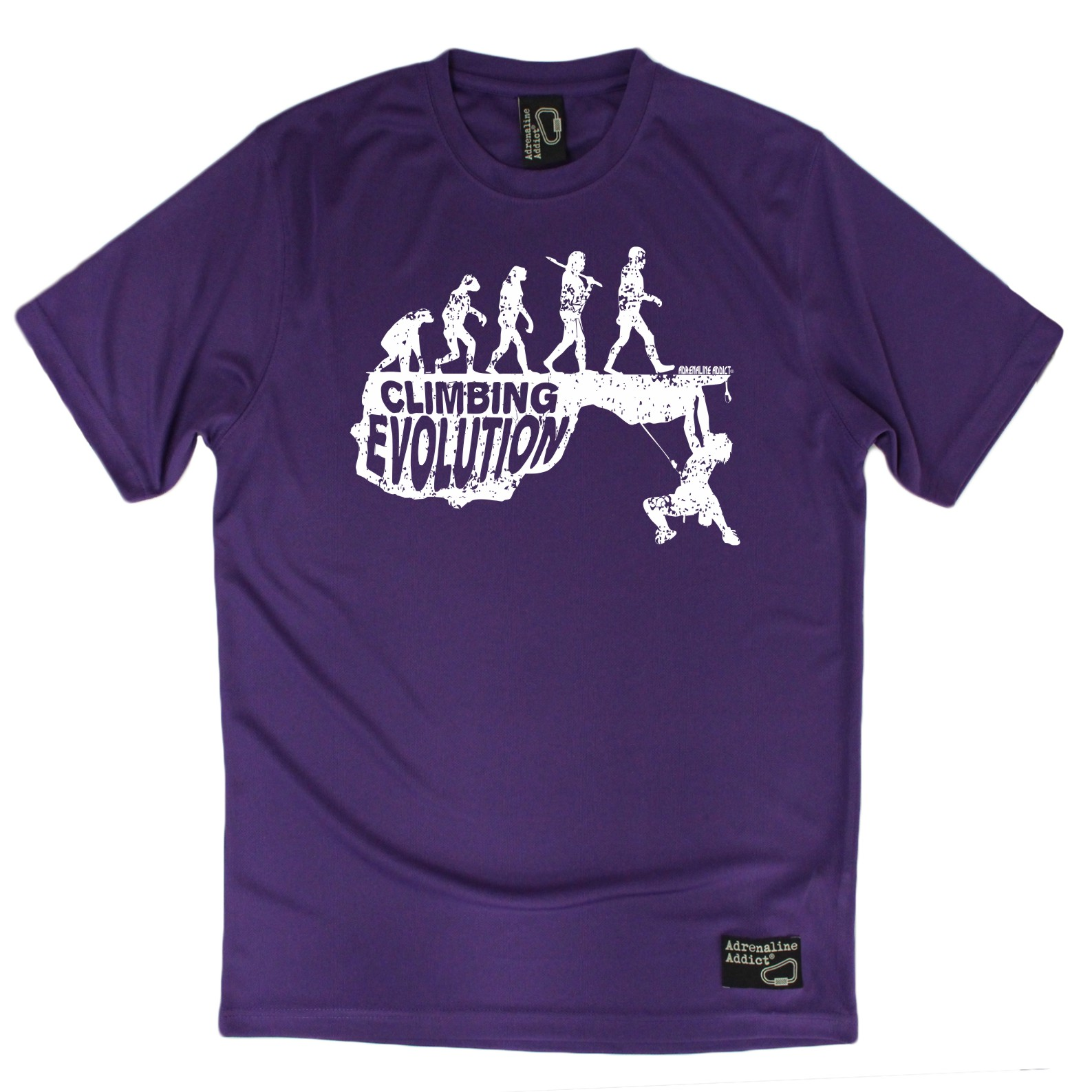 Climbing Evolution Dry Fit Breathable Sports T-SHIRT Adrenaline Addict