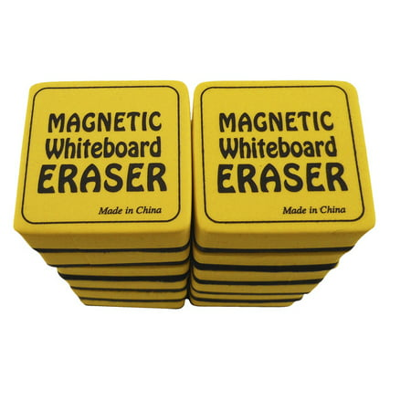 The Classics Magnetic Dry Erase Whiteboard Eraser, 2 x 2 Inches, Pack of 24 - Dry Erase Erasers
