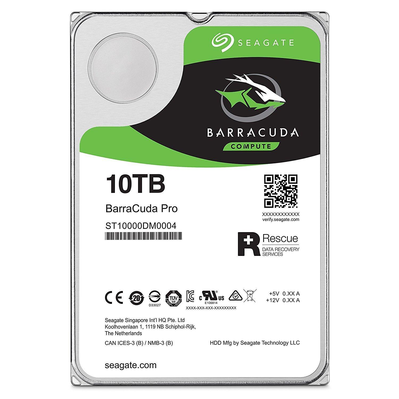 Refurbished Seagate 10TB BarraCuda Pro 7200RPM SATA 6GB/s 256MB Cache 3.5-Inch Hard Drive (Manufacture Refurbished)