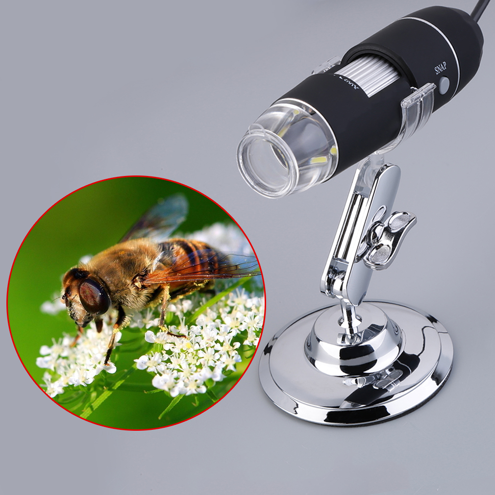 50-500X 2MP USB 8 LED Light Digital Microscope Endoscope Camera Magnifier by