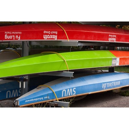 Red Dragon Boat - LAMINATED POSTER Blue Boats Dragon Boats Red Colorful Green Poster Print 24 x 36