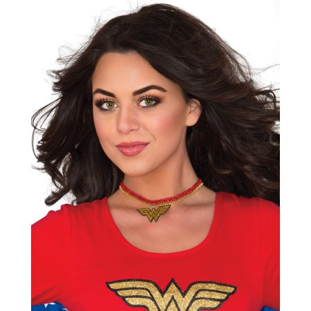 DC Comics Superhero Wonder Woman Choker Neckpiece Necklace Costume Accessory - Wonder Woman Costume Accessories