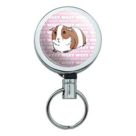 Guinea Pig Pet Pink Retractable Belt Clip Badge Key Holder for $<!---->