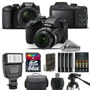 Nikon COOLPIX B500 Camera 40x Optical Zoom + Flash + Case - 64GB Kit Bundle