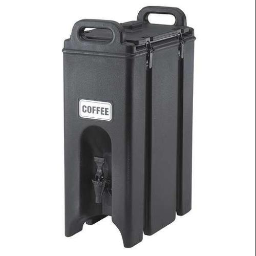 CAMBRO EA500LCD110 Beverage Container, 16 1/2x 9x 24, Black