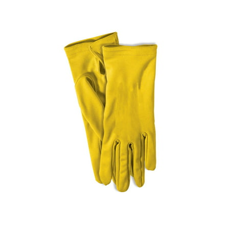 Yellow Short Gloves Halloween Costume Accessory - Short Halloween Limericks