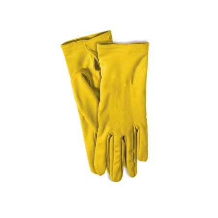 Yellow Short Gloves Halloween Costume (Women's Yellow M&m Costume)