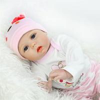 22'' Lifelike Newborn Reborn Babies Silicone Vinyl Reborn Baby Girl Dolls Handmade Doll for Toddler Gifts High Quality