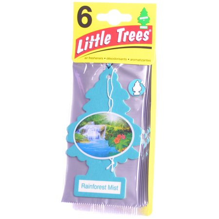 Little Trees Cardboard Hanging Car/Home/Office Air Freshener, Rainforest Mist -6](Cardboard Tree)