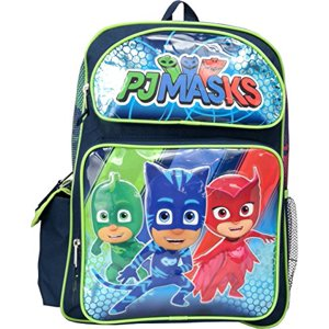 "Backpack - PJ Masks - Catboy Owlette Gekko Green 16"" School Bag 158624"