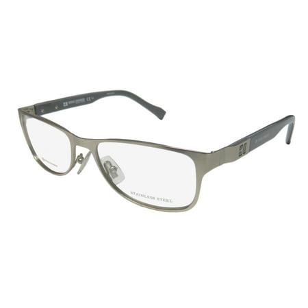 New Hugo Boss Orange 0081 Womens/Ladies Designer Full-Rim Silver / Gray Stainless Steel High-end Trendy Frame Demo Lenses 50-16-140 Eyeglasses/Eyewear