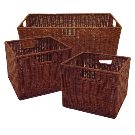 Leo Set of 3 Wired Baskets, 1 Large and 2 Small ()
