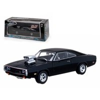 """Dom's 1970 Dodge Charger Black """"The Fast and The Furious"""" Movie (2001) 1/43 Diecast Car by Greenlight"""