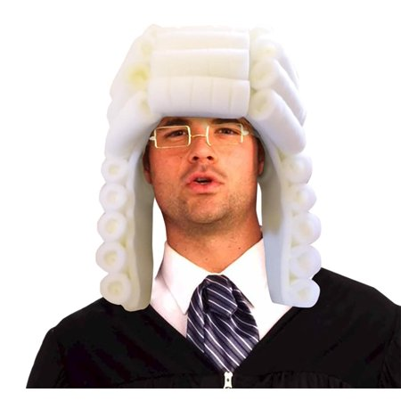 Judge Wig Adult Foam Costume Hat - One Size
