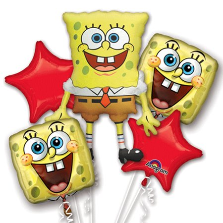 Spongebob Squarepants Authentic Licensed Theme Foil Balloon Bouquet](Spongebob Decorations)