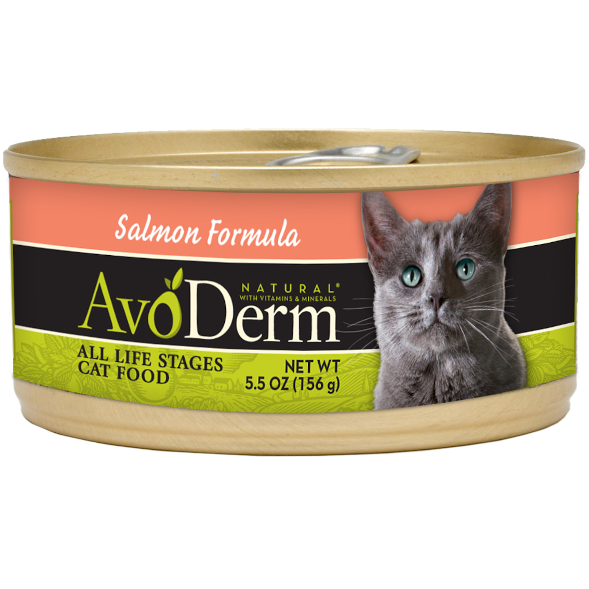 AvoDerm Natural Salmon Formula for Cats, 5.5 Oz. Can