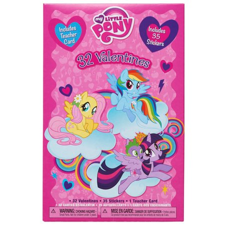 My Little Pony Valentine\'s Day Exchange Cards, 32 count with ...