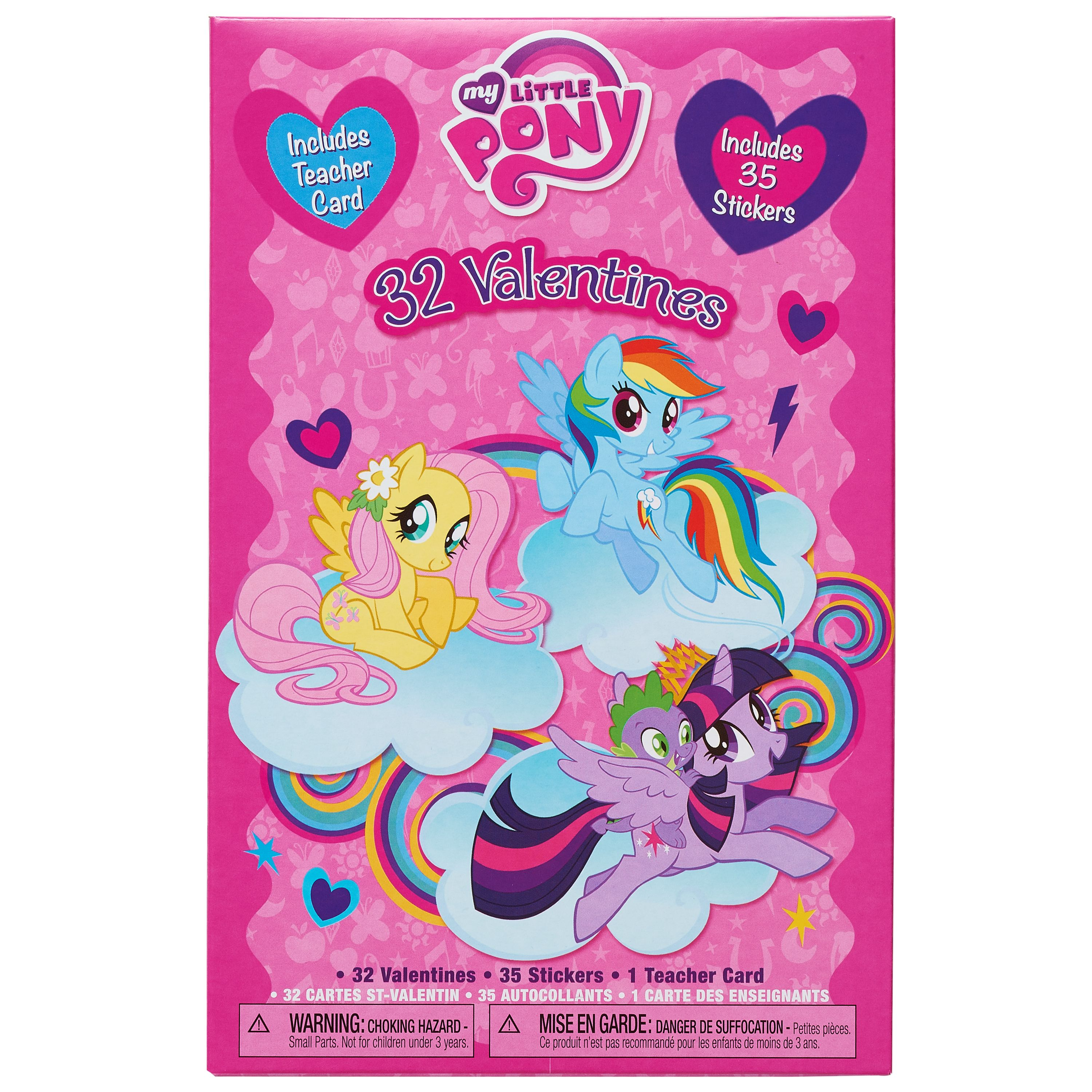 My Little Pony Valentineu0027s Day Exchange Cards, 32 Count With Stickers
