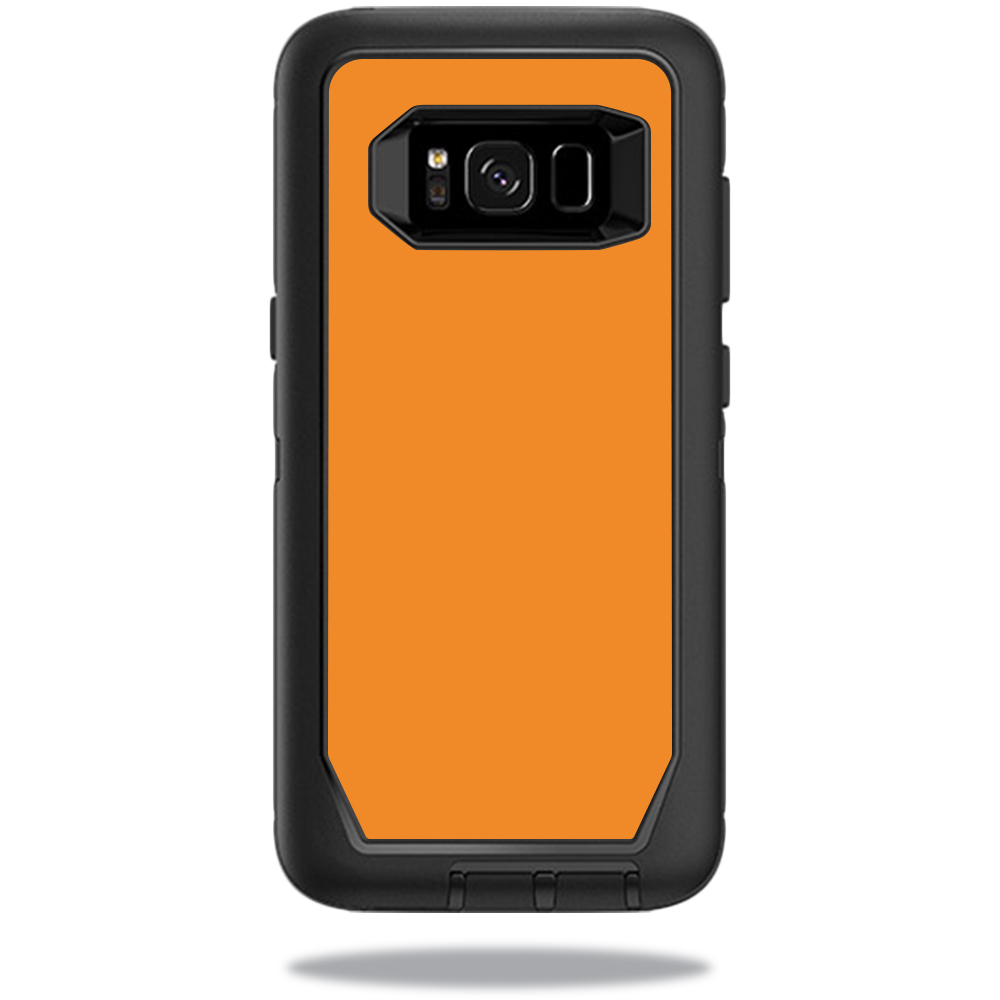 MightySkins Protective Vinyl Skin Decal for OtterBox DefenderSamsung Galaxy S8 Case sticker wrap cover sticker skins Solid Orange