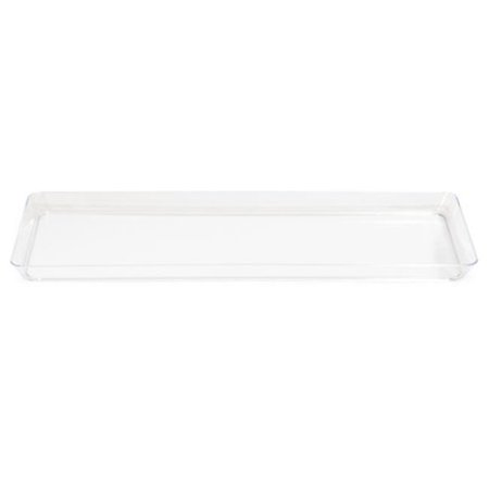 Trendware 179432 6 x 15.5 In. Clear Rectangular Tray - Case of 6 ()