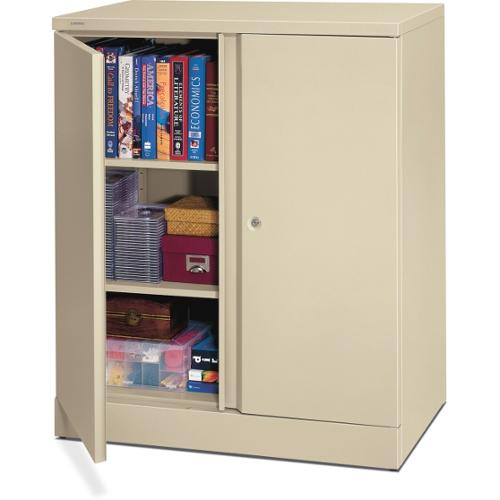 "HON Easy-To-Assemble Storage Cabinet - 36"" x 18"" x 42.8"" - 2 x Shelf(ves) - 2 x Door(s) - 218 lb Load Capacity - Securit"