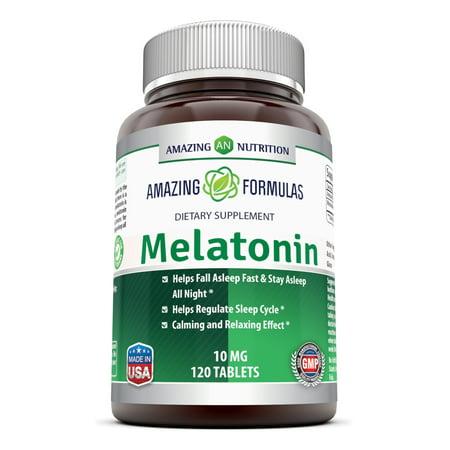 Amazing Formulas Melatonin 10 Mg 120 (Super 10 Antioxidant Formula)