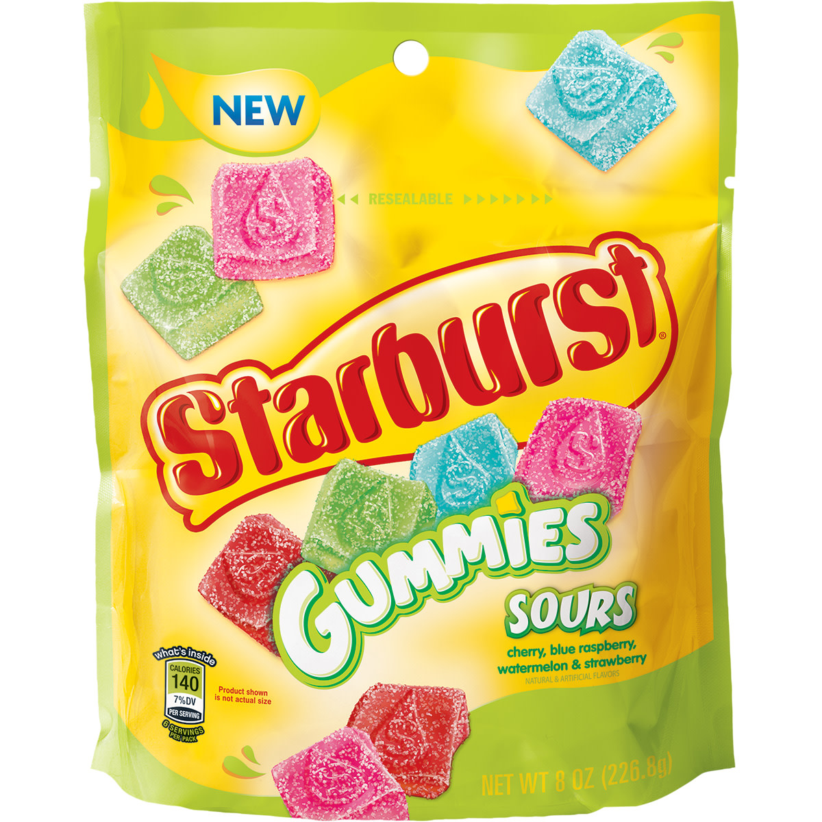 Starburst, Chewy Gummies Sours Candy, 8 Oz