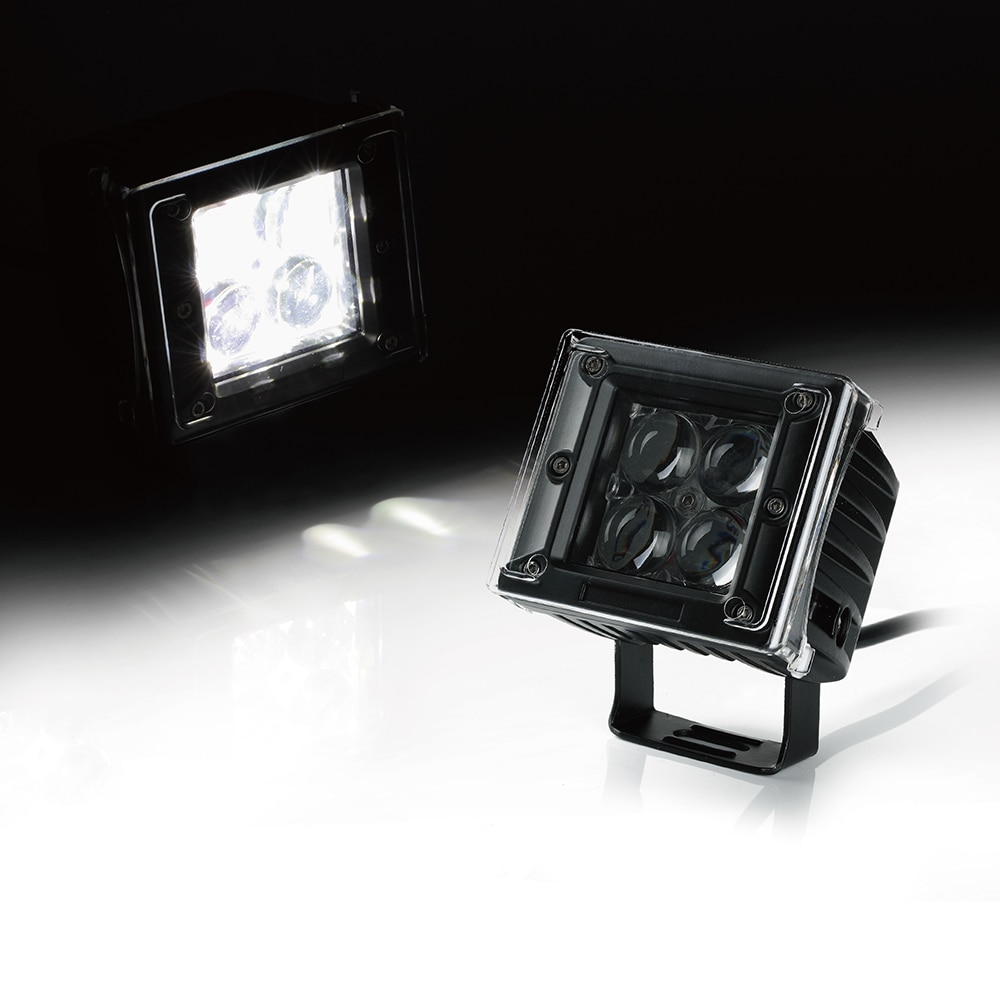 """Xprite 20W 3"""" 4D Optical Lens 5W CREE LED Light with Amber, Blue, Red, Clear Covers"""