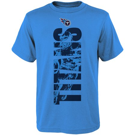 Youth Light Blue Tennessee Titans Side T-Shirt