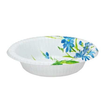 Floral Snack (Nicole Home Collection 35 Snack Paper Bowl, 12-Ounce, Blue/Floral)