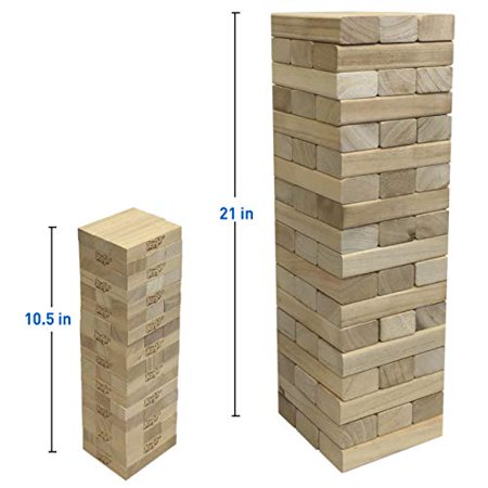 EasyGoProducts 54Piece Giant Wood Block Stack & Tumble Tower Toppling Blocks Game- Great for Game Nights for Kids Adults & Family-Storage Bag - image 3 de 4