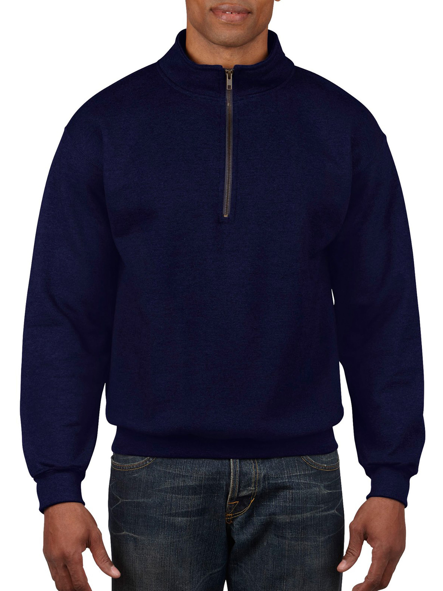 Big Men's 1/4 Zip Cadet Collar Sweatshirt, 2XL