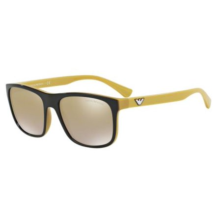 EMPORIO ARMANI Sunglasses EA4085 55556E Top Brown On Yellow (Emporio Sunglasses)