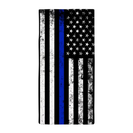 Large Beach Towel - CafePress - Vertical Distressed Police Flag - Large Beach Towel, Soft 30