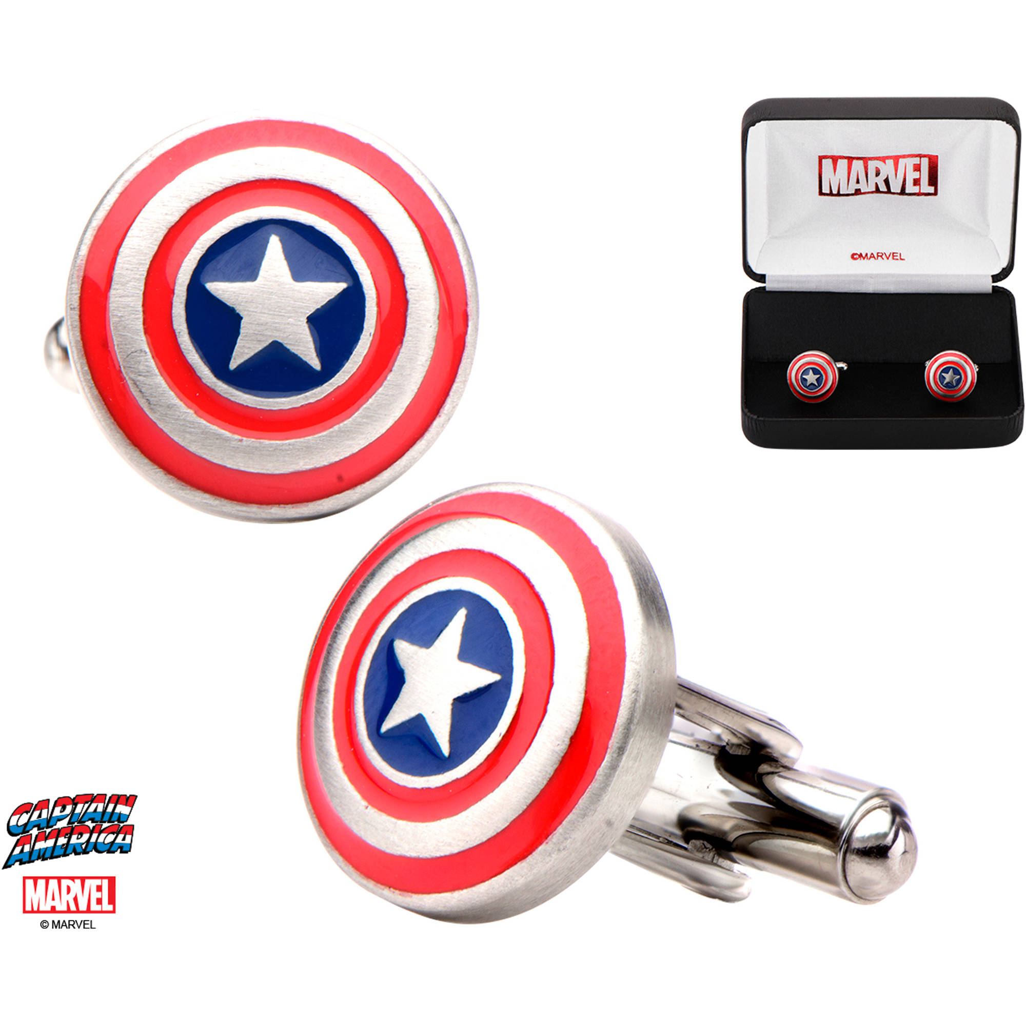Marvel Men's Stainless Steel Captain America Cufflinks