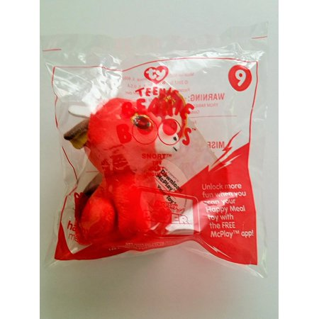 McDonald's Teenie Beanies Boo's 2017 # 9 Snort Red Bull TY Happy Meal Toy, By McDonalds - Mcdonalds Halloween Toys