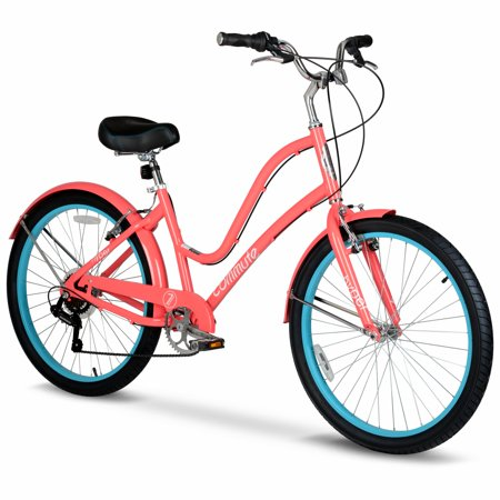 Hyper Commute Women's Comfort Bike, 26' Wheels, 7-Speed Shimano Twist