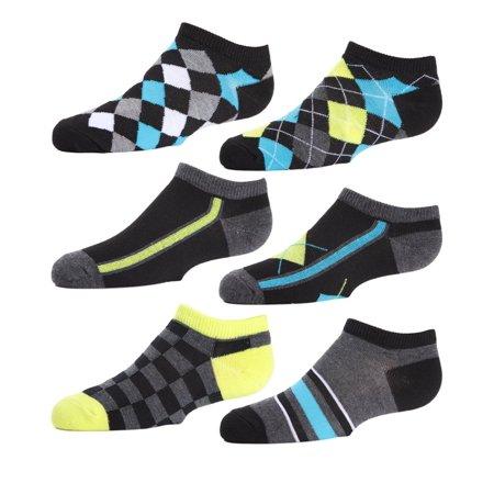 MeMoi Boys Argyle Socks | Get Low Cut Ankle Socks from MeMoi 7-8. / Black Multi MBF4 430