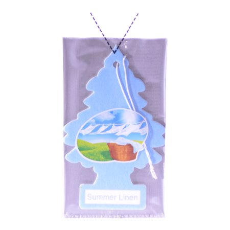 Little Trees Cardboard Hanging Car, Home & Office Air Freshener, Summer Linen](Cardboard Tree)