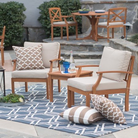 Brighton Garden (Belham Living Brighton Outdoor Wood Deep Seating Chat Set )