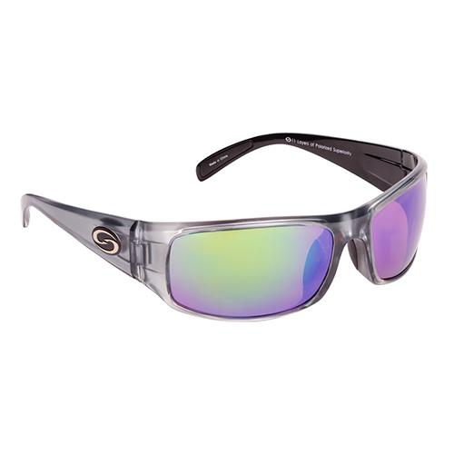 Strike King Lures S11 Optics Sunglasses Okeechobee Style, Two Tone Frame, Multi Layer Green Mirror Amber Base Lens by Strike King Lures