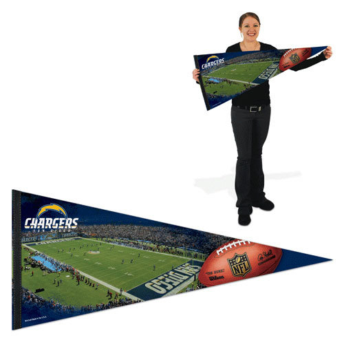 NFL - San Diego Chargers Pennant: 17x40 Stadium Premium Pennant