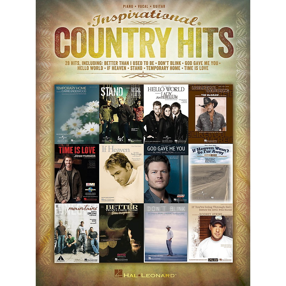 Hal Leonard Inspirational Country Hits for Piano/Vocal/Guitar