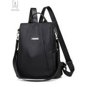 "GustaveDesign Women Backpack Waterproof Oxford Cloth Anti-theft Rucksack Travel Shoulder Bag School Bags for Girls ""Black"""
