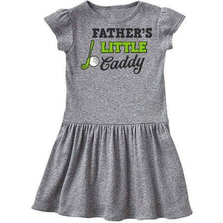 Fathers Little Caddy with Golf Club and Ball Toddler Dress