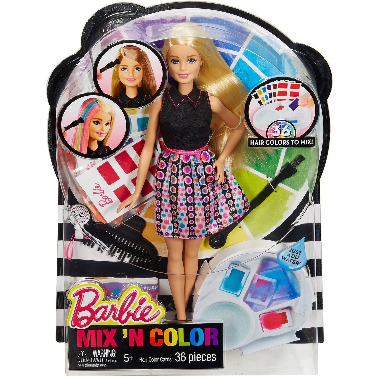 Barbie Mix N Color Custom Hair Stylist Doll Walmart