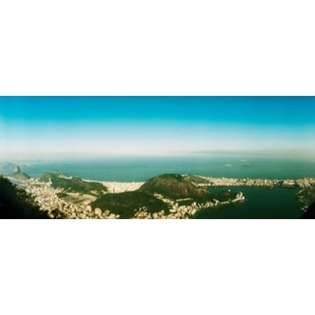 House on the coast from Corcovado Rio de Janeiro Brazil Poster Print